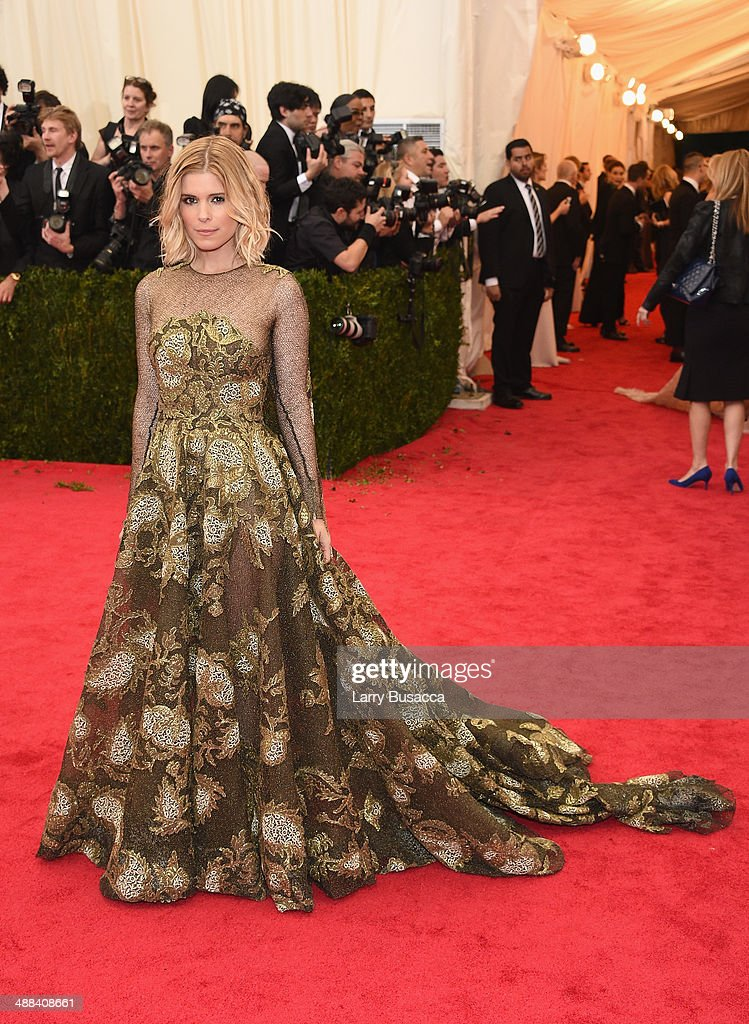 Actress Kate Mara attends the 'Charles James: Beyond Fashion' Costume Institute Gala at the Metropolitan Museum of Art on May 5, 2014 in New York City.