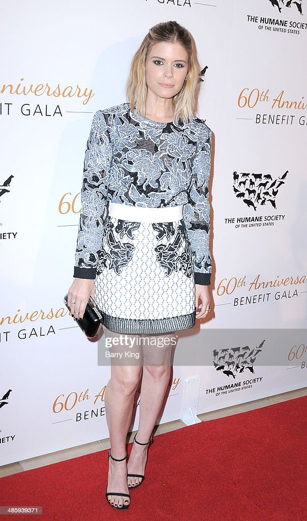 Actress Kate Mara attends the Humane Society Of The United States 60th Anniversary Benefit Gala on March 29 2014 at The Beverly Hilton Hotel in...