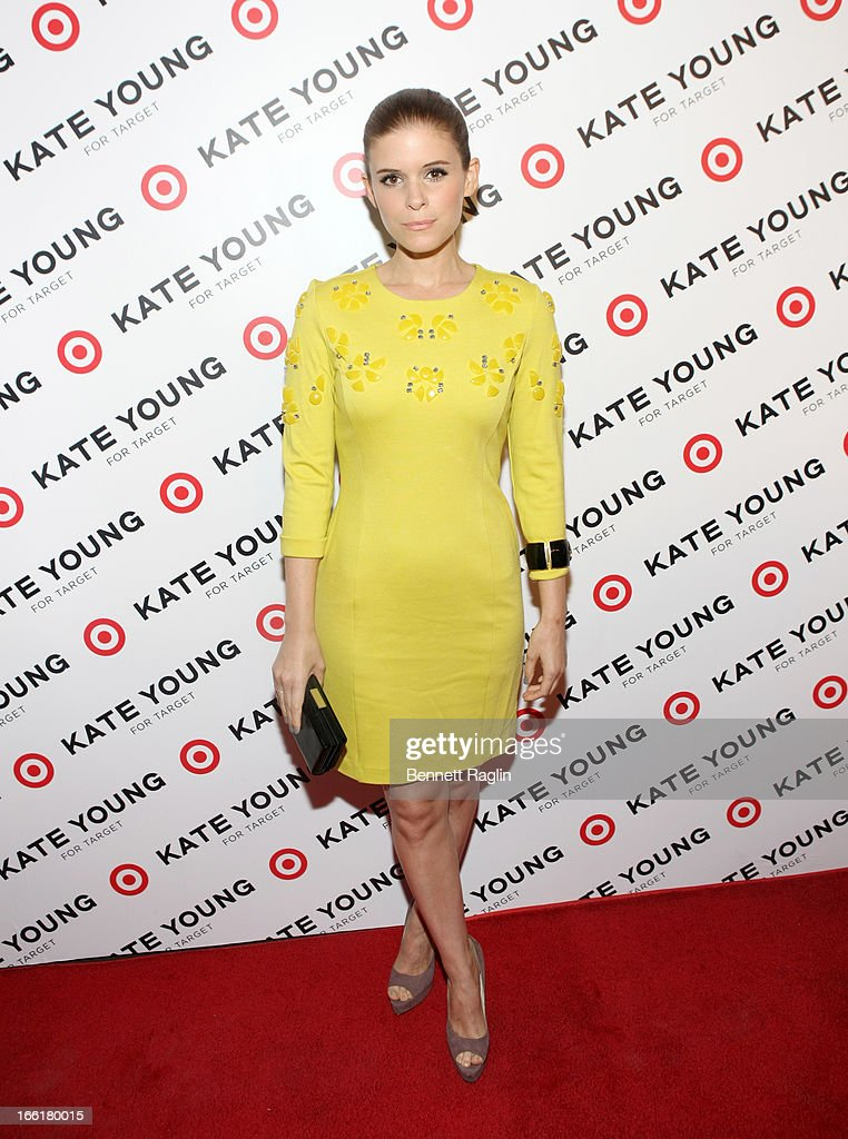 Actress Kate Mara attends the <a gi-track='captionPersonalityLinkClicked' href=/galleries/search?phrase=Kate+Young+-+Stylist&family=editorial&specificpeople=15146765 ng-click='$event.stopPropagation()'>Kate Young</a> For Target Launch at The Old School NYC on April 9, 2013 in New York City.