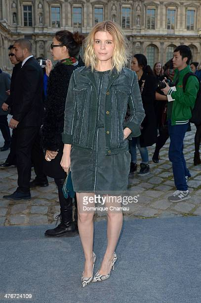 Actress Kate Mara attends the Louis Vuitton show as part of the Paris Fashion Week Womenswear Fall/Winter 20142015 on March 5 2014 in Paris France