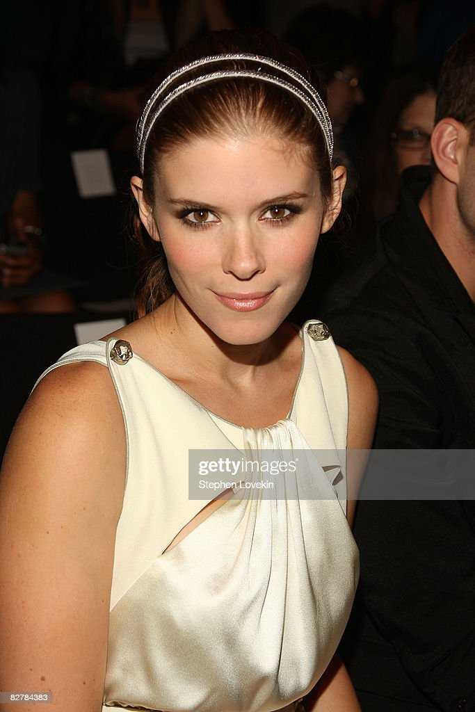 Actress Kate Mara attends the Zac Posen Spring 2009 fashion show during Mercedes-Benz Fashion Week at The Tent, Bryant Park on September 11, 2008 in New York City.