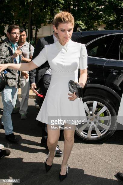 Actress Kate Mara is seen on June 24 2017 in Paris France