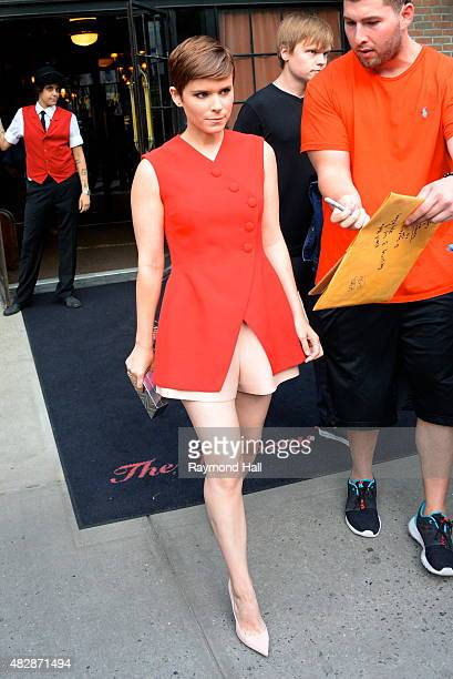 Actress Kate Mara is seen walking in Soho on August 3 2015 in New York City
