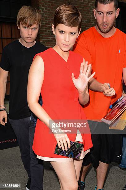 Actress Kate Mara leaves her Noho hotel on August 3 2015 in New York City