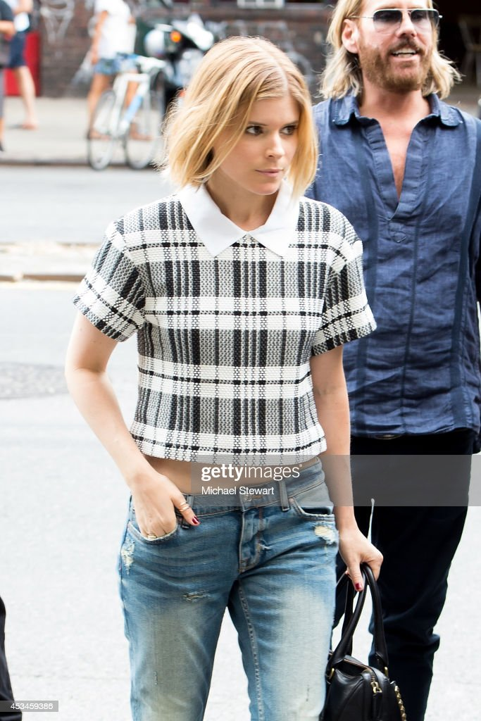 Actress Kate Mara seen on the streets of Manhattan on August 10, 2014 in New York City.