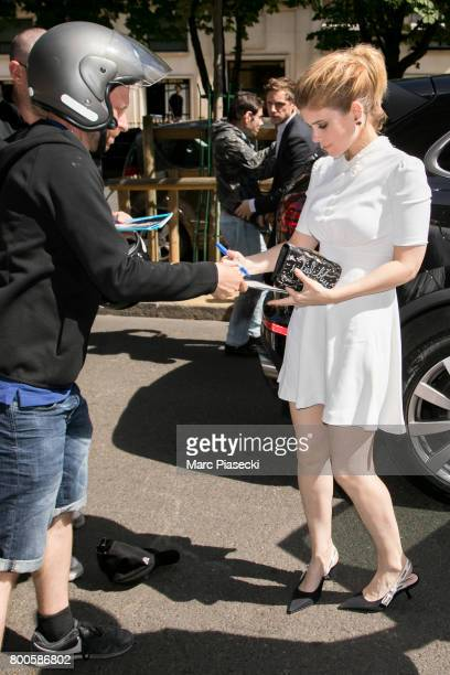 Actress Kate Mara signs autographs as she is seen on June 24 2017 in Paris France