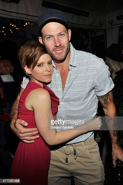 Actress Kate Mara wearing Max Mara and Film costume designer Johnny Wujek attend The Max Mara 2015 Women In Film Face Of The Future event at Chateau...