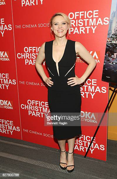 Actress Kate McKinnon attends as Paramount Pictures with the Cinema Society Svedka host a screening of 'Office Christmas Party' at Landmark Sunshine...