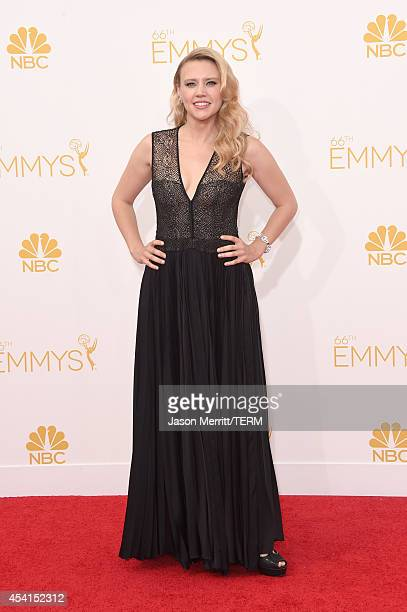 Actress Kate McKinnon attends the 66th Annual Primetime Emmy Awards held at Nokia Theatre LA Live on August 25 2014 in Los Angeles California