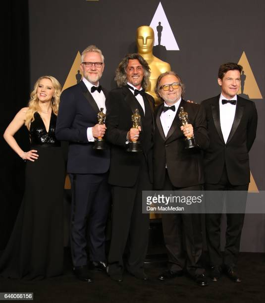 Actress Kate McKinnon Makeup artists Christopher Nelson Giorgio Gregorini Alessandro Bertolazzi winners of the Best Makeup and Hairstyling award for...
