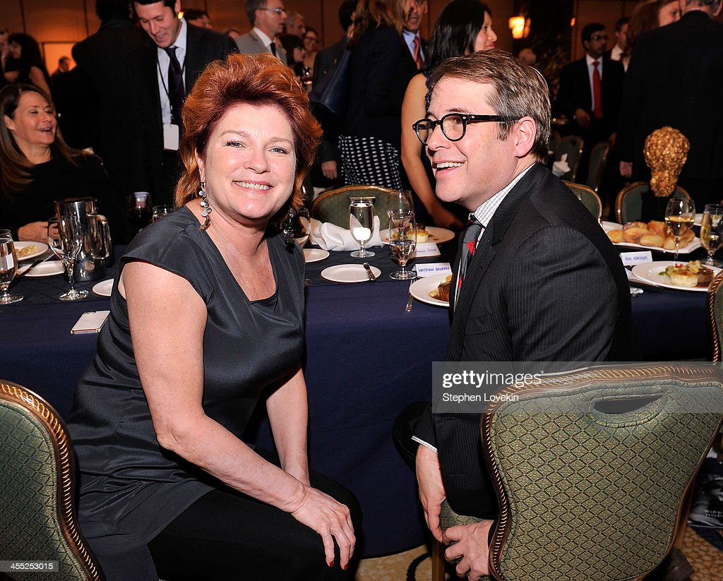 Actress Kate Mulgrew (L) and Actor Matthew Broderick attend Robert F. Kennedy Center For Justice And Human Rights 2013 Ripple Of Hope Awards Dinner at New York Hilton Midtown on December 11, 2013 in New York City.