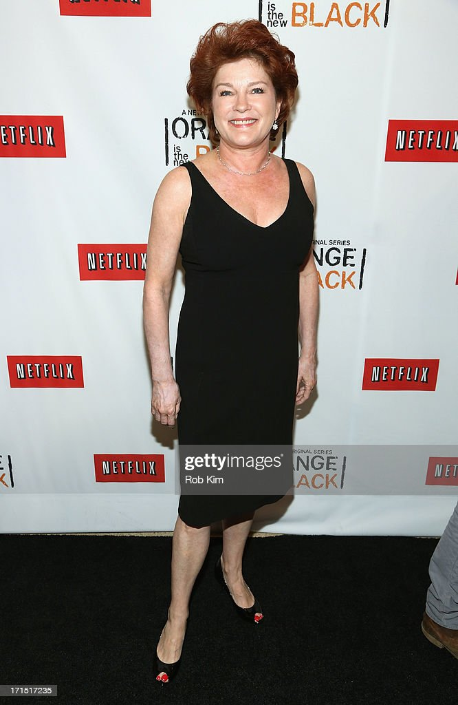 Actress <a gi-track='captionPersonalityLinkClicked' href=/galleries/search?phrase=Kate+Mulgrew&family=editorial&specificpeople=233496 ng-click='$event.stopPropagation()'>Kate Mulgrew</a> attends 'Orange Is The New Black' New York Premiere at The New York Botanical Garden on June 25, 2013 in New York City.