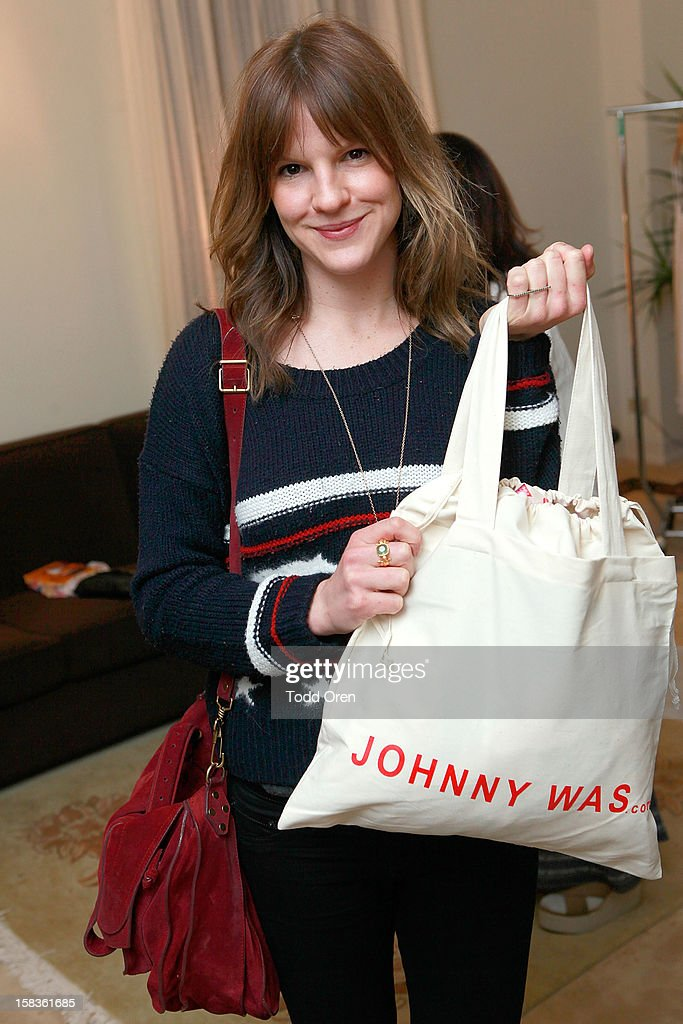 Actress Kate Sumner shops at the Johnny Was Holiday Gifting Suite at Chateau Marmont on December 13, 2012 in Los Angeles, California.