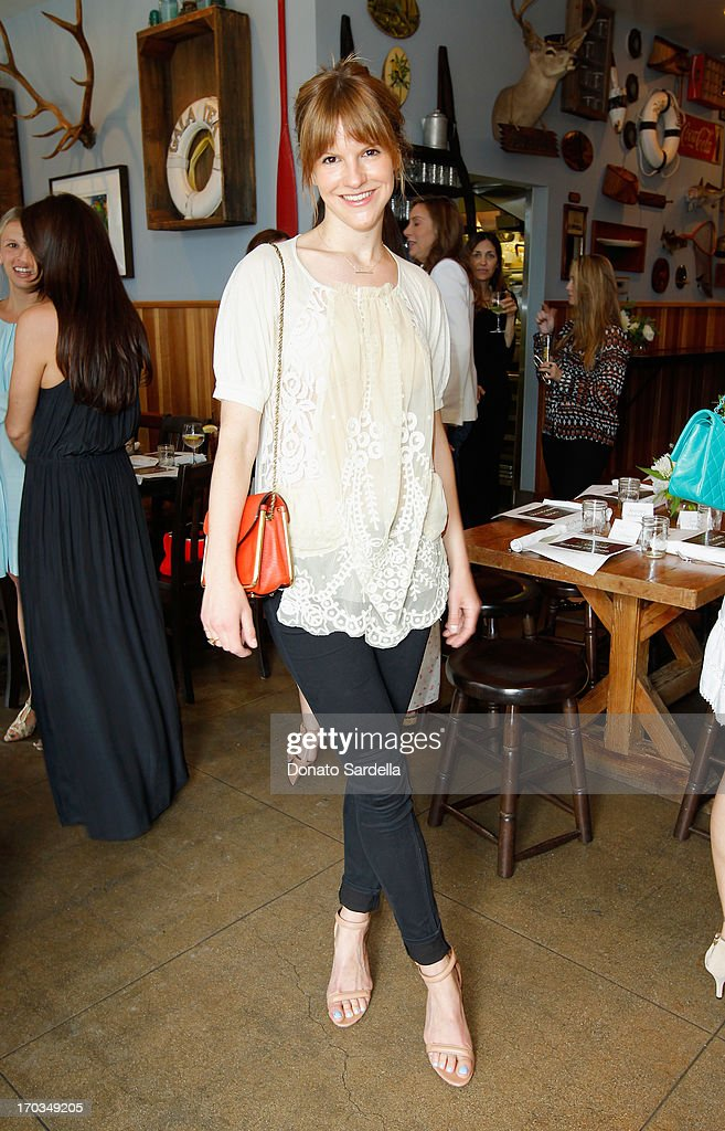 Actress Kate Sumner, wearing Paper Denim & Cloth attends the Paper Denim & Cloth and Baby2Baby Luncheon at Son Of A Gun on June 11, 2013 in Los Angeles, California.