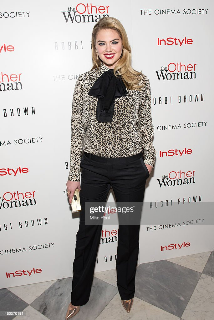 Actress <a gi-track='captionPersonalityLinkClicked' href=/galleries/search?phrase=Kate+Upton&family=editorial&specificpeople=7488546 ng-click='$event.stopPropagation()'>Kate Upton</a> attends The Cinema Society & Bobbi Brown with InStyle screening of 'The Other Woman' at The Paley Center for Media on April 24, 2014 in New York City.