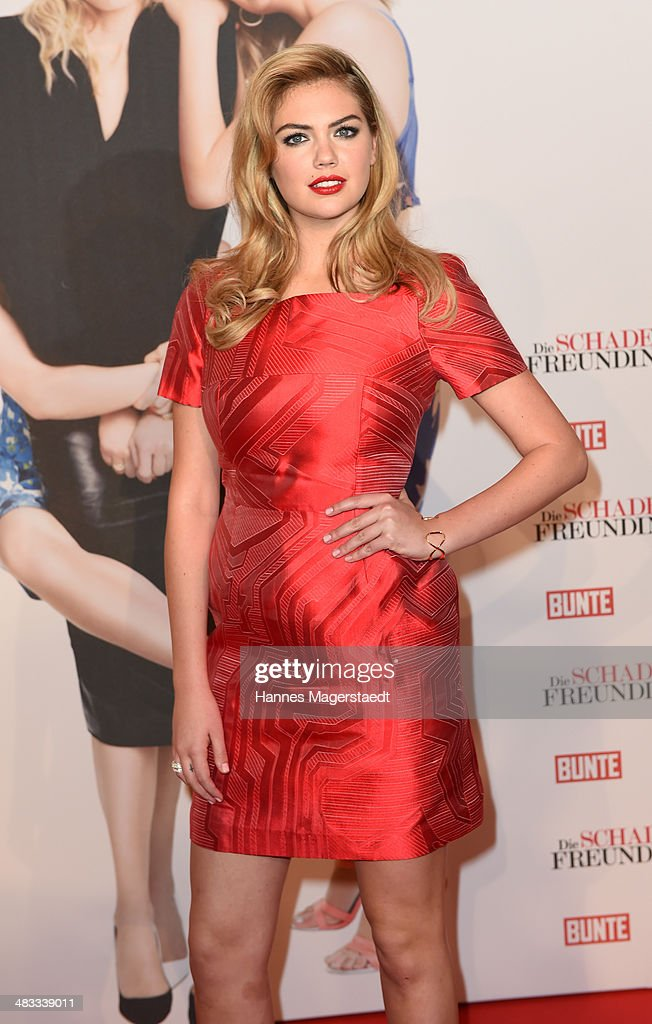 Actress <a gi-track='captionPersonalityLinkClicked' href=/galleries/search?phrase=Kate+Upton&family=editorial&specificpeople=7488546 ng-click='$event.stopPropagation()'>Kate Upton</a> attends the German premiere of the film 'The Other Woman' (German title: Die Schadenfreundinnen) at Mathaeser Filmpalast on April 7, 2014 in Munich, Germany.