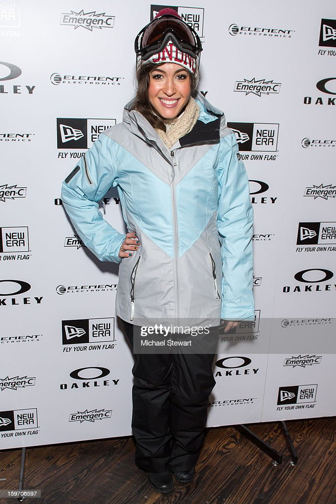 Actress Kate Voegele attends Oakley Learn To Ride In Collaboration With New Era - Day 1 - 2013 Park City on January 18, 2013 in Park City, Utah.