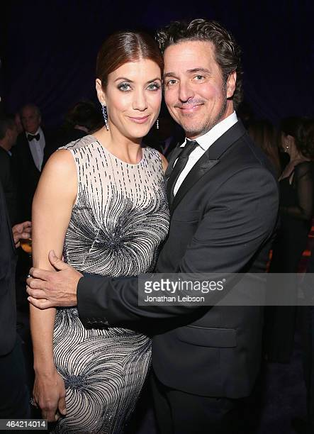 Actress Kate Walsh and Chris Case attend ROCA PATRON TEQUILA at the 23rd Annual Elton John AIDS Foundation Academy Awards Viewing Party on February...