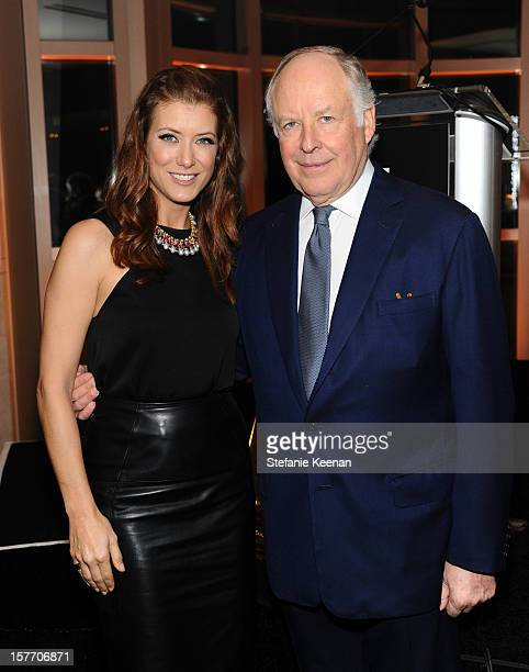 Actress Kate Walsh and honoree Nicola Bulgari attend the Rodeo Drive Walk Of Style honoring BVLGARI and Mr Nicola Bulgari held at Bulgari on December...