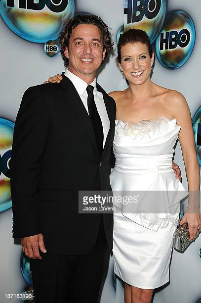 Actress Kate Walsh and writer Chris Case attend HBO's Post Golden Globe party at Circa 55 Restaurant at the Beverly Hilton Hotel on January 15 2012...