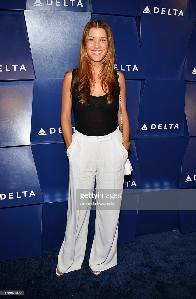 Actress Kate Walsh arrives at the Delta Air Lines Summer Celebration at Beverly Grove Drive on August 15, 2013 in Beverly Hills, California.