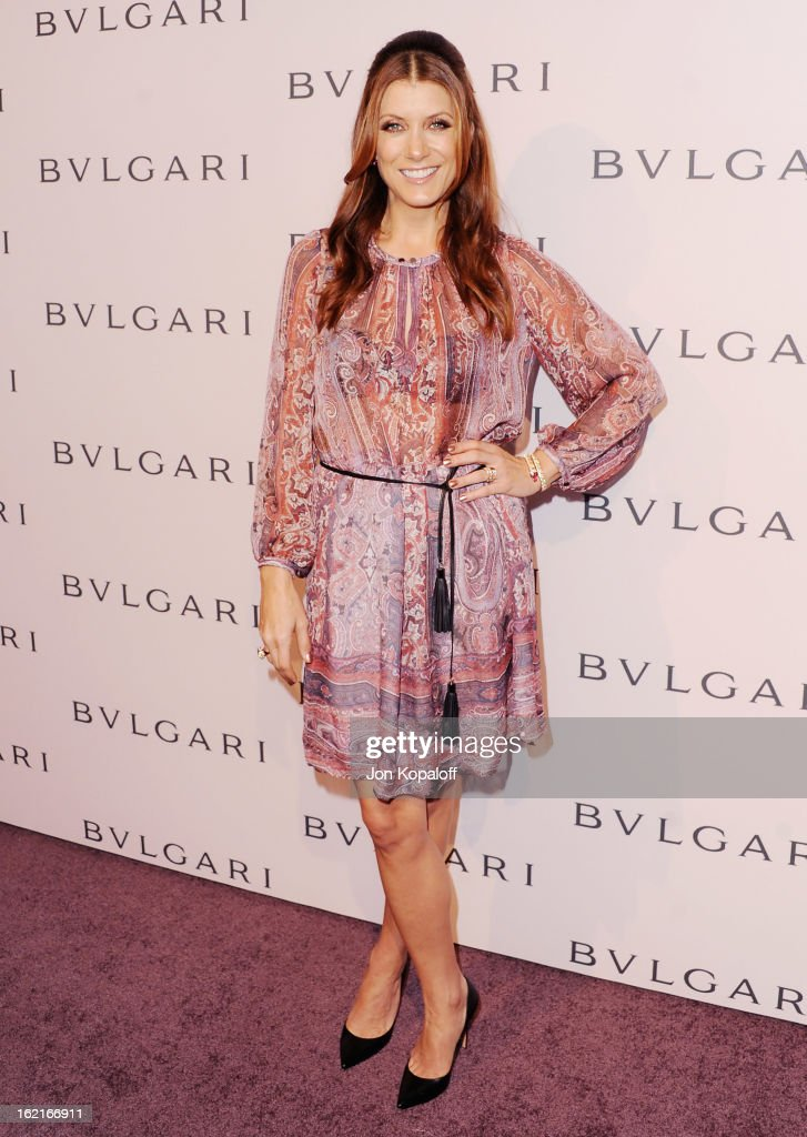 Actress Kate Walsh arrives at the Elizabeth Taylor Bulgari Event At The New Bulgari Beverly Hills Boutique on February 19, 2013 in Beverly Hills, California.