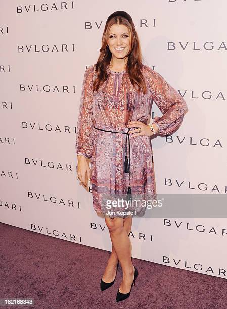 Actress Kate Walsh arrives at the Elizabeth Taylor Bulgari Event At The New Bulgari Beverly Hills Boutique on February 19 2013 in Beverly Hills...