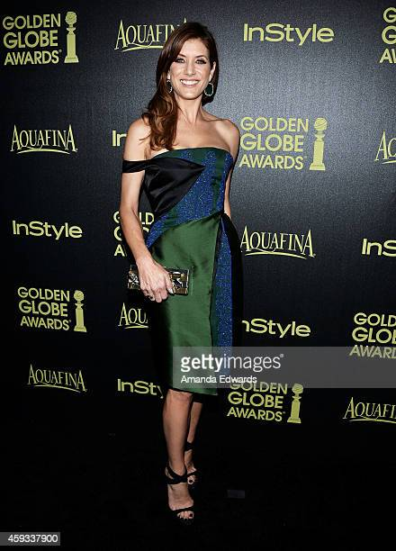 Actress Kate Walsh arrives at The Hollywood Foreign Press Association and InStyle's 2015 Golden Globe Award Season celebration at Fig Olive Melrose...
