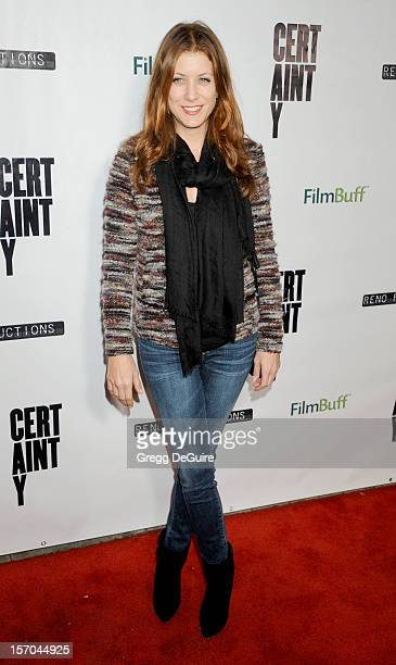 Actress Kate Walsh arrives at the Los Angeles premiere of 'Certainty' at Laemmle's Music Hall 3 on November 27 2012 in Beverly Hills California