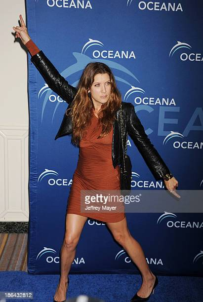 Actress Kate Walsh arrives at the Oceana Partners Award Gala With Former Secretary Of State Hillary Rodham Clinton and HBO CEO Richard Plepler at...
