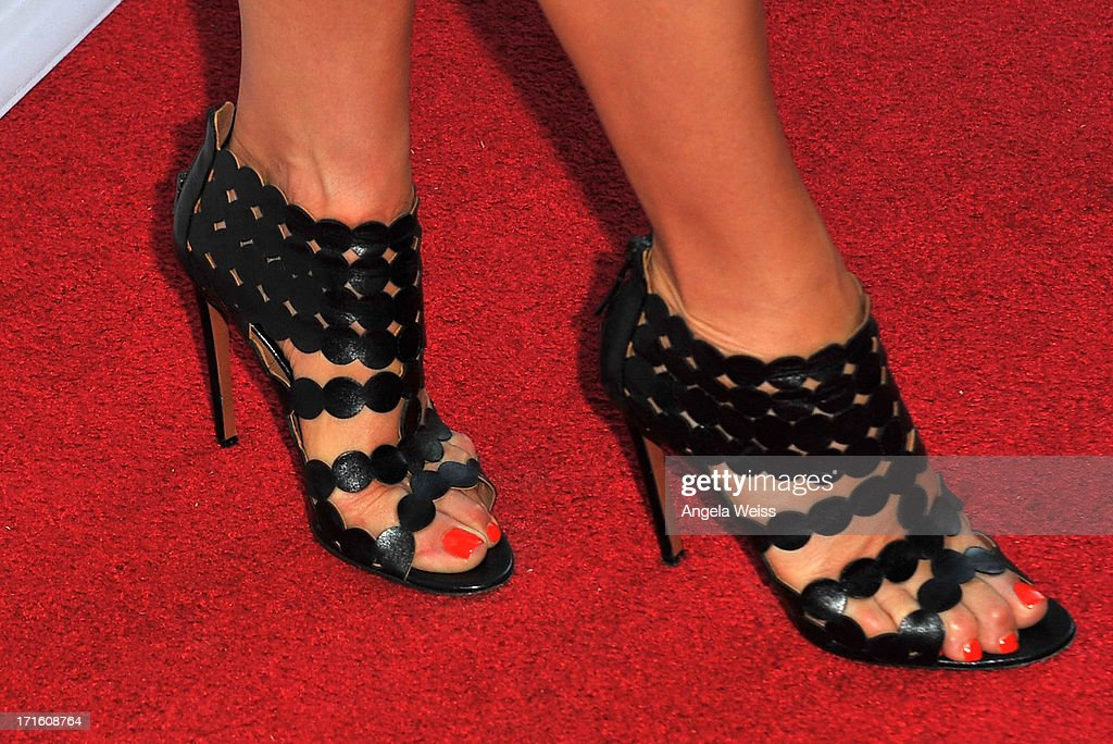 Actress Kate Walsh (shoe detail) arrives at the premiere of 'Some Girl(s)' at Laemmle NoHo 7 on June 26, 2013 in North Hollywood, California.