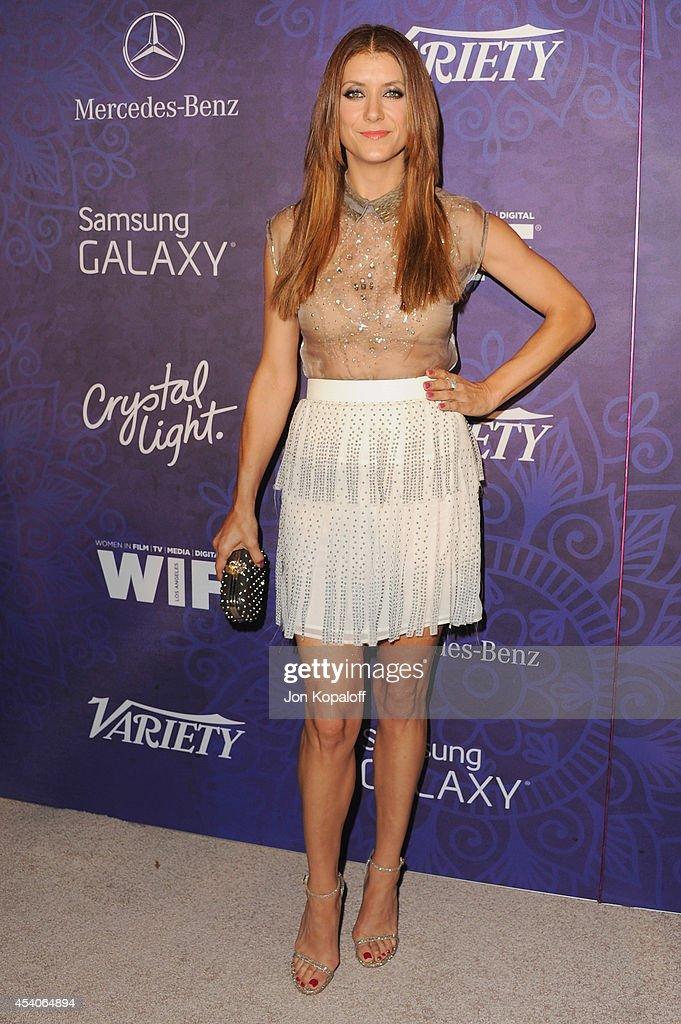 Actress Kate Walsh arrives at Variety And Women In Film Annual PreEmmy Celebration at Gracias Madre on August 23 2014 in West Hollywood California