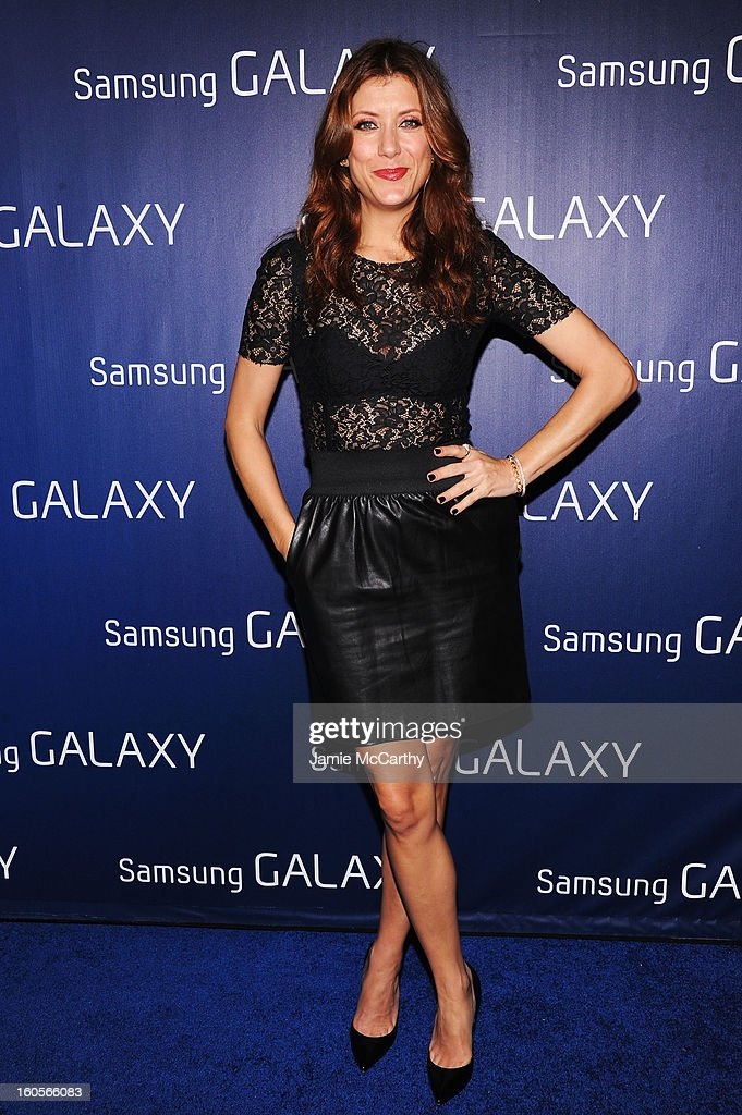"""Actress Kate Walsh at the Samsung Galaxy """"Shangri-La"""" Party on February 2, 2013 in New Orleans, Louisiana."""