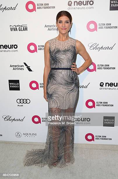 Actress Kate Walsh attends the 23rd Annual Elton John AIDS Foundation's Oscar Viewing Party on February 22 2015 in West Hollywood California