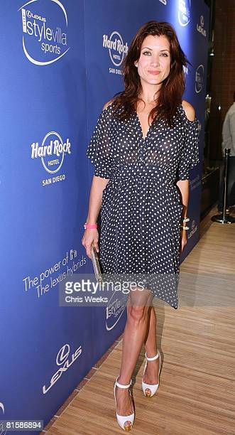 Actress Kate Walsh attends the Lexus Style Villa Sports celebrating 'Hybrid Living' at the Hard Rock Hotel on June 14 2008 in San Diego California