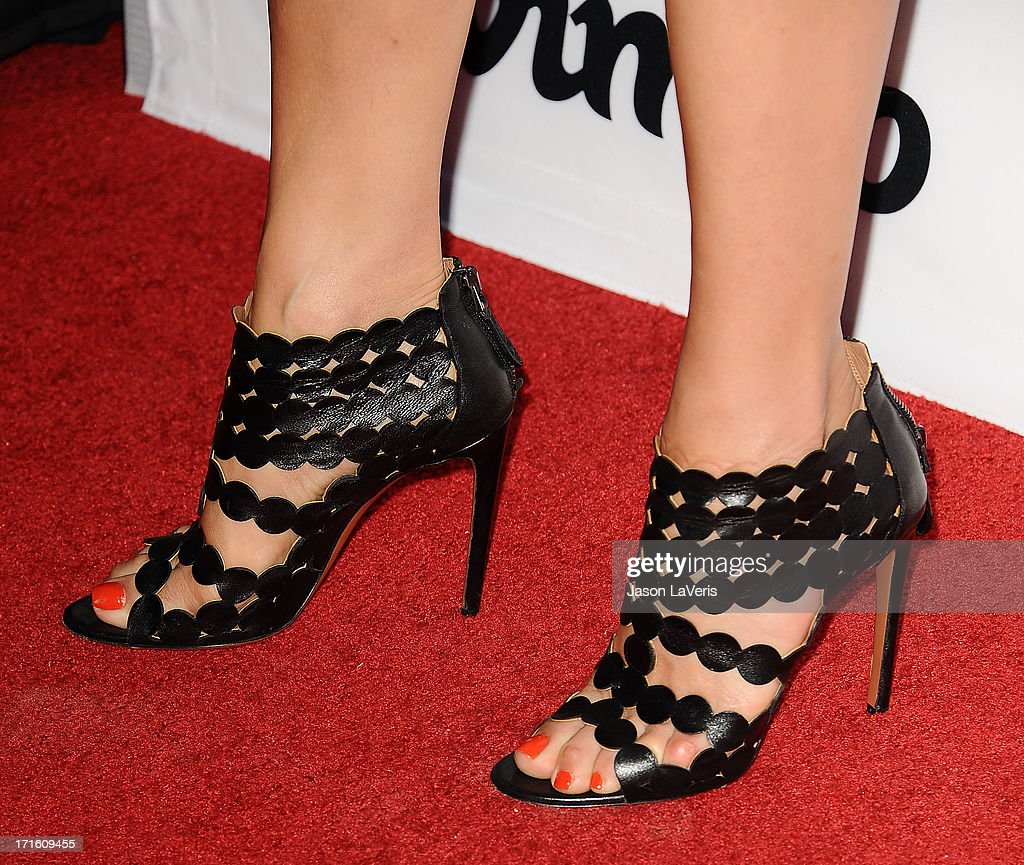 Actress Kate Walsh (shoe detail) attends the premiere of 'Some Girl(s)' at Laemmle NoHo 7 on June 26, 2013 in North Hollywood, California.
