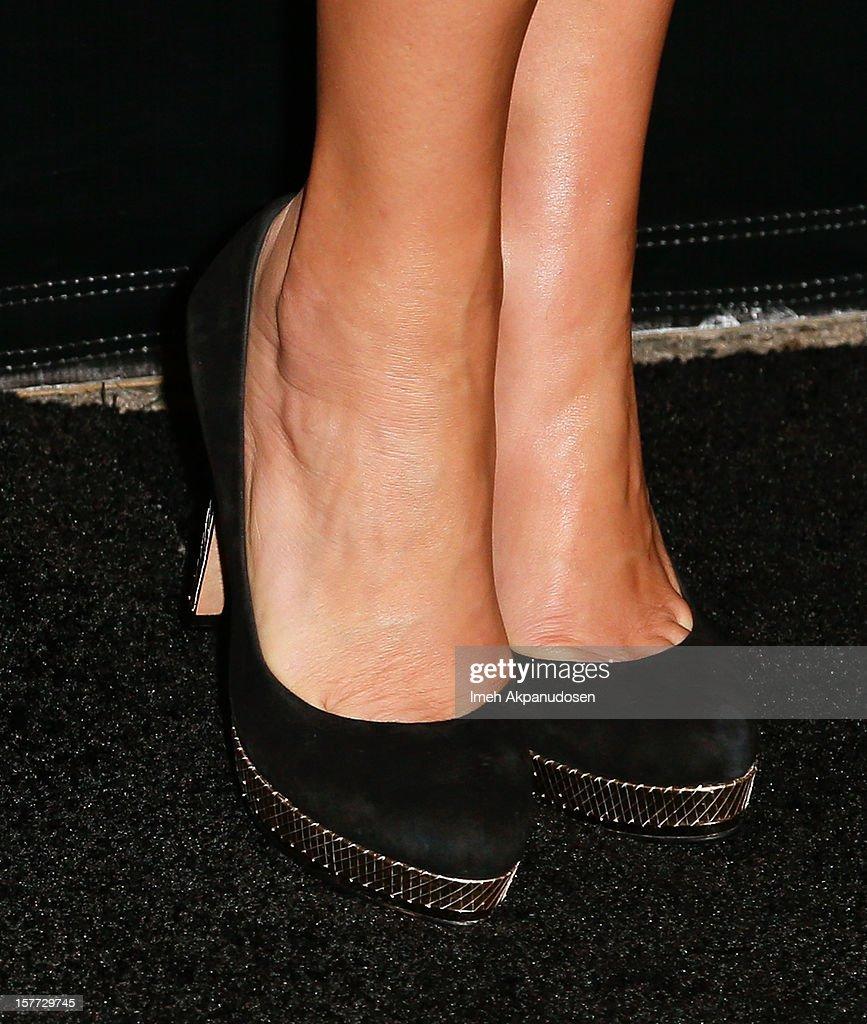 Actress Kate Walsh (shoe detail) attends the Rodeo Drive Walk Of Style honoring BVLGARI and Mr. Nicola Bulgari held at Bulgari on December 5, 2012 in Beverly Hills, California.