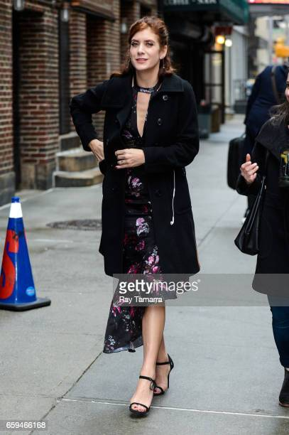 Actress Kate Walsh enters the 'The Late Show With Stephen Colbert' taping at the Ed Sullivan Theater on March 28 2017 in New York City