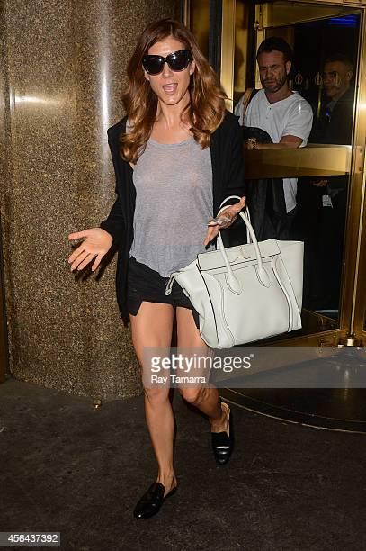 Actress Kate Walsh leaves the NBC Rockefeller Center Studios on September 30 2014 in New York City