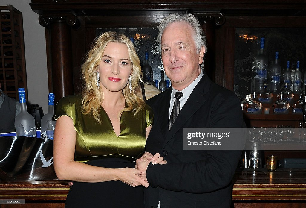 Actress Kate Winslet and director/actor Alan Rickman at 'A Little Chaos' world premiere party hosted by GREY GOOSE vodka and Soho House Toronto...