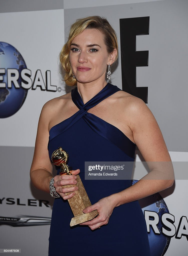 Actress Kate Winslet arrives at NBCUniversal's 73rd Annual Golden Globes After Party at The Beverly Hilton Hotel on January 10 2016 in Beverly Hills...