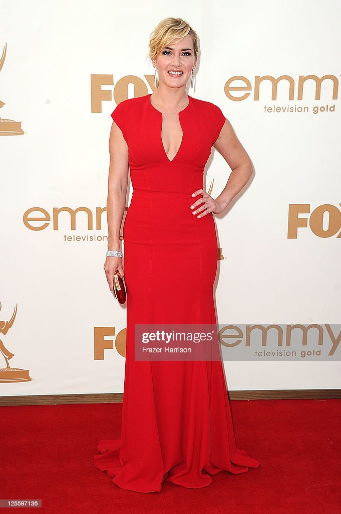 Actress <a gi-track='captionPersonalityLinkClicked' href=/galleries/search?phrase=Kate+Winslet&family=editorial&specificpeople=201923 ng-click='$event.stopPropagation()'>Kate Winslet</a> arrives at the 63rd Annual Primetime Emmy Awards held at Nokia Theatre L.A. LIVE on September 18, 2011 in Los Angeles, California.