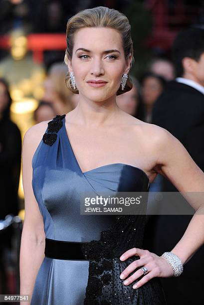 Actress Kate Winslet arrives at the 81st Academy Awards at the Kodak Theater in Hollywood California on February 22 2009 AFP PHOTO Jewel SAMAD