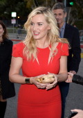 Actress Kate Winslet arrives at the premiere of Summit Entertainment's 'Divergent' at the Regency Bruin Theatre on March 18 2014 in Los Angeles...