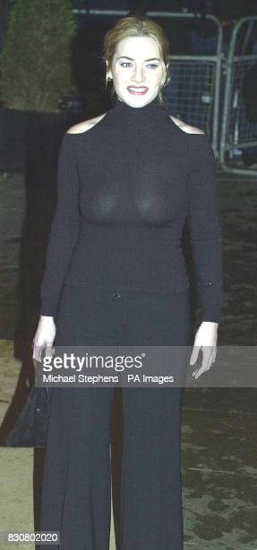 Actress Kate Winslet arrives for the Evening Standard Film Awards 2002 at The Savoy in London The annual awards recognise the achievements in...