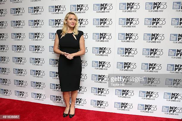Actress Kate Winslet attends an evening in her honor at Lincoln Center during the 2015 New York Film Festival at Alice Tully Hall on October 6 2015...