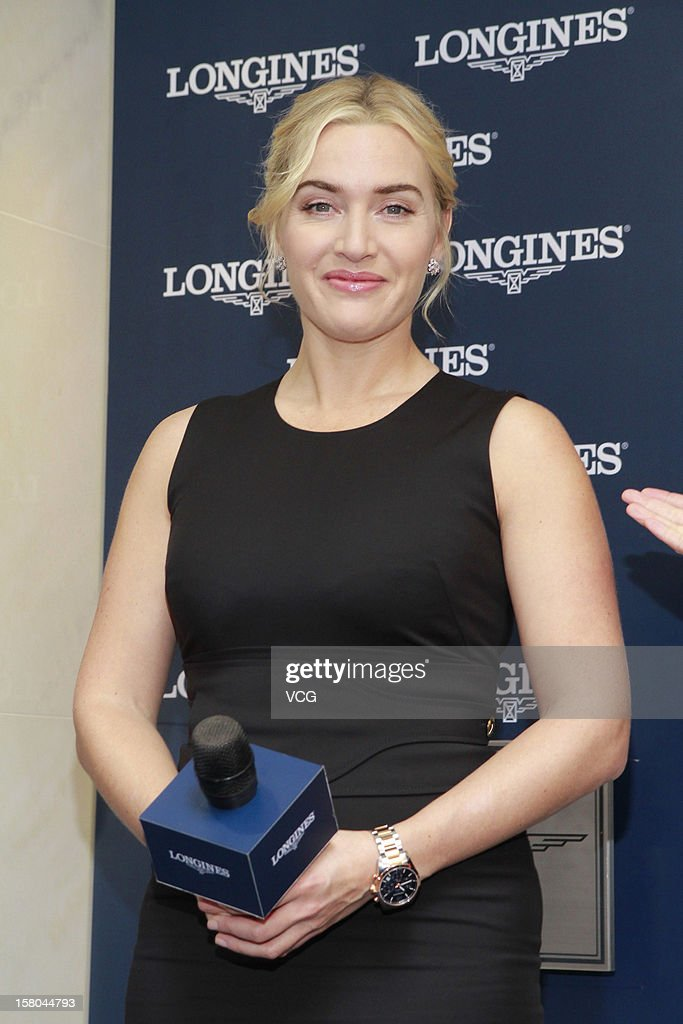 Actress Kate Winslet attends Longines store opening ceremony on December 9, 2012 in Hong Kong.