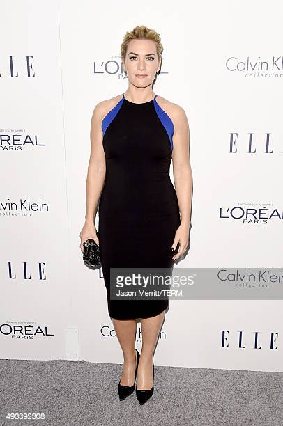 Actress Kate Winslet attends the 22nd Annual ELLE Women in Hollywood Awards at Four Seasons Hotel Los Angeles at Beverly Hills on October 19 2015 in...