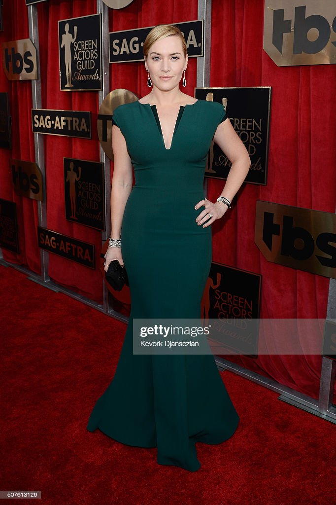 Actress Kate Winslet attends the 22nd Annual Screen Actors Guild Awards at The Shrine Auditorium on January 30 2016 in Los Angeles California