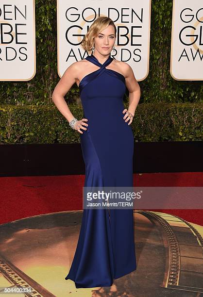 Actress Kate Winslet attends the 73rd Annual Golden Globe Awards held at the Beverly Hilton Hotel on January 10 2016 in Beverly Hills California